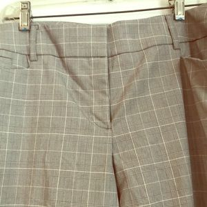 Tan and light pink plaid size 12 womens trousers