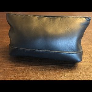 Black Leather Cosmetic Pouch