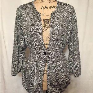 Cato zebra print blazer NWT