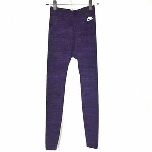 EUC Nike Athletic Black & Purple Stripe Legging