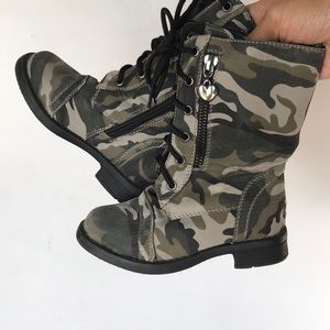 Girls Military Boots