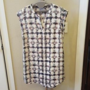 Katherine Barclay Montreal dress, sz 6 white multi