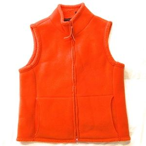 Bright Orange Cozy FLEECE VEST Express Jeans