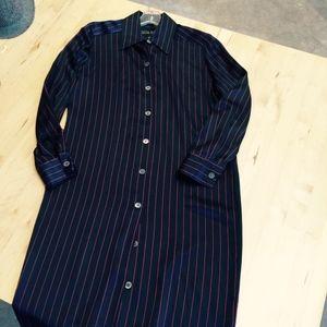 Linda Allard for Ellen Tracy Silk shirtdress