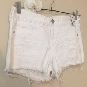 nwt // express white jean shorts