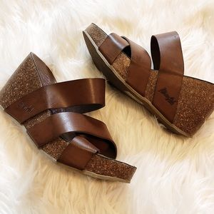 Blowfish Brown Wedges - Size 7.5