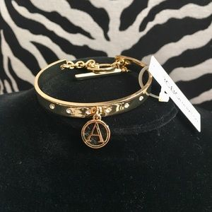"NWT BCBGeneration bracelet with initial ""A"""