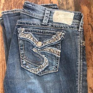 Silver Suki flap jeans 32 33