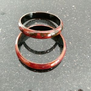2 Chinese wooden bangles