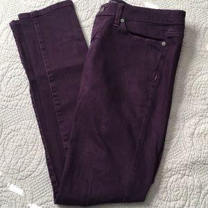 Mossimo Curvy Skinny jeans Sz 4 purple