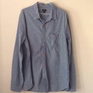 Jcrew men's chambray shirt size L