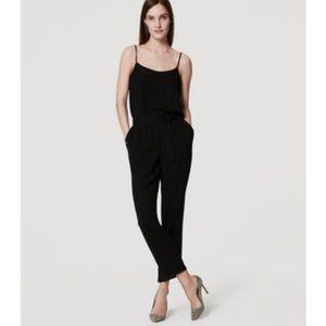 Ann Taylor LOFT Black Cami JumpsuitSize Large