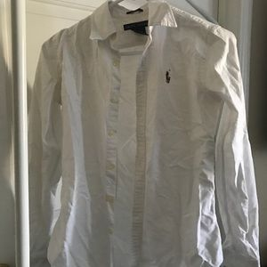 White slim fit Polo Ralph Lauren button up