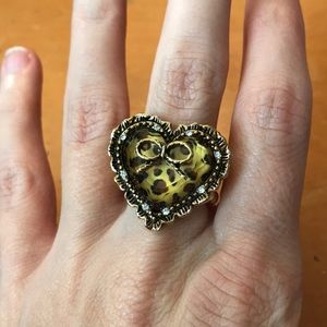 Betsey Johnson cheetah ring