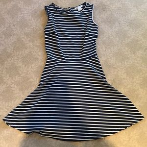 Adorable blue and white striped dress!