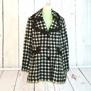 NWT NICE KENSIE ESTILO Black White Winter Coat XL
