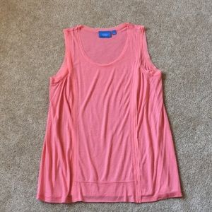 EUC women Large coral tank simply Vera wang
