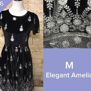 LuLaRoe Medium Black Velvet Amelia