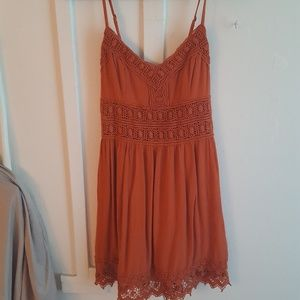 A&F Beautiful rust orange dress