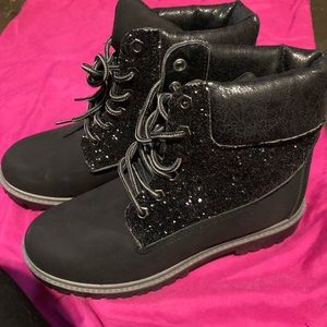 US 9 Black Glam boots