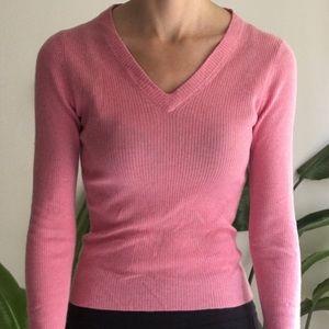 J Crew Silk/Cashmere pink sweater