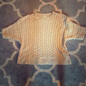UO Pins and Needles cable knit dolman sweater