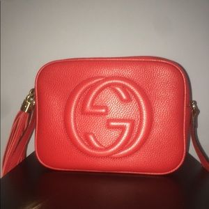 SOLD Gucci Soho leather Disco bag in red