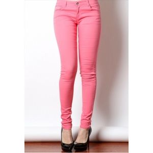 COMING SOON COTTON TWILL JEGGINGS CORAL
