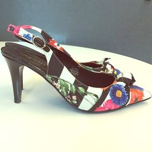 Nine West Floral Slingback Pumps