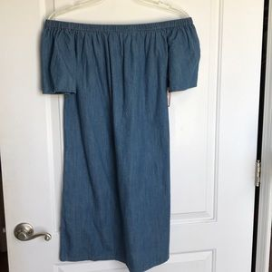 Merona Target Off the Shoulder Denim Dress