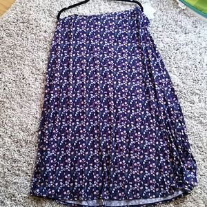 Navy blue & purple Lularoe maxi skirt size XXL