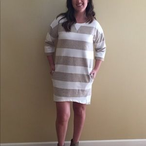 Stripe sweatshirt dress