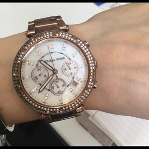 MK MICHAEL MICHAEL KORS ROSE GOLD WATCH