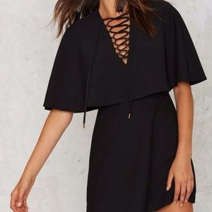 Nasty Gal Masking Cape Dress
