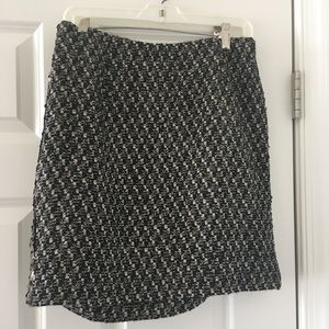 Sparkly Black and Gold Bronze Knit Skirt
