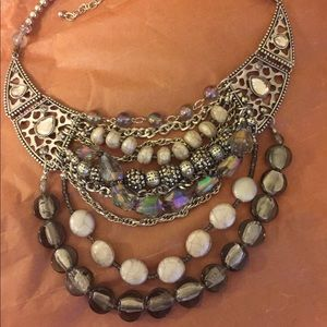 Chico's multi bead chocker necklace