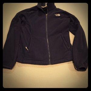 Navy blue soft north face jacket