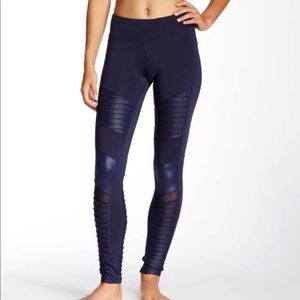 Electric Yoga Navy Motorcycle Pant Legging Mesh