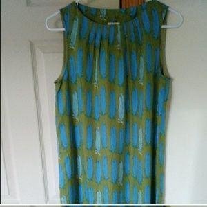 NWT Fossil Ginger Sleeveless Green Dress Small