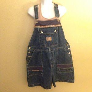 Bum denim short overalls size L,