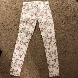 Hudson Nico skinny ankle floral pants