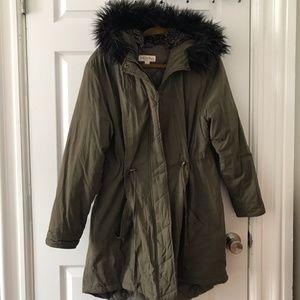 Merona Winter Jacket with Faux Fur Hood