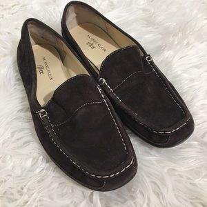 Anne Klein suede slides size 9.5 Brown Iflex