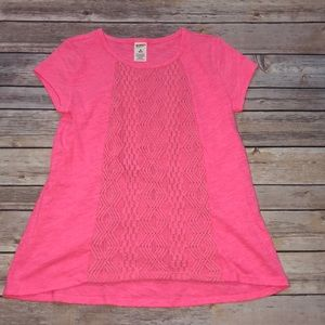 NWOT Girls Pink swing style top size 10/12