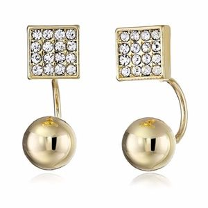 Rebecca Minkoff Gold & Pave Earrings / Ear Jacket