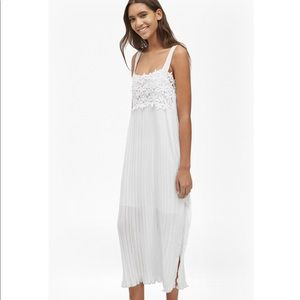 French connection lace and pleat dress
