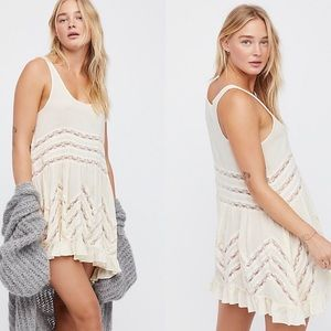 Free People Voile and Lace Trapeze Slip Tank