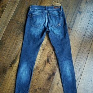 Express MIA Mid-Rise legging/blue darker denim