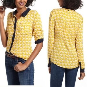 Anthropologie Maeve Horse Button Down Shirt