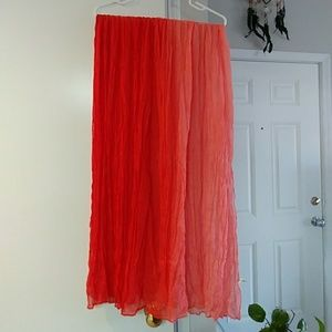 Red/Pink Ombre Scarf